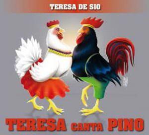 Nelle foto, sopra, la copertina del cd, Tresa canta Pino. In alto, la presentazione del lavoro al museo archeologico