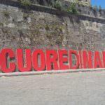 Installazione #cuoredinapoli realizzata dai ragazzi dell'Accademia di Belle Arti di Napoli\ ilmondodisuk.com
