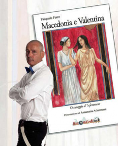 Pasquale Ferro e la copertina del suo libro che ispira lo spettacolo diretto da Vincenzo Borrelli