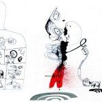 In foto, in alto, l'artista Carlo Bugli con l'autore Eugenio Lucrezi; al centro, alcune opere in mostre al MA\ ilmondodisuk.com