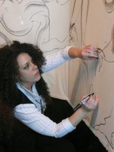 L'artista Daniela Valentino\ilmondodisuk.com