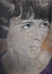 Qui sopra, il ritratto di Hilda Doolittle. In alto, l'omaggio a Cristina CampoCampo