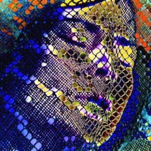 """Qui sopra, Kora, della serie """"Plenitude"""". In alto, una panoramica della galleria abruzzese, on provincia di Teramo"""