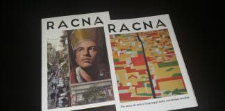 Nella foto di Cosimo Di Giacomo, lo staff di Racna Magazine nella sala Biblioteca del Madre (I piano) per presentare la rivista di arte contemporanea. In basso, i primi due numeri cartacei della rivista.\ ilmondodisuk.com