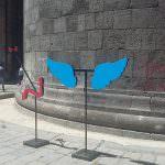 Alcune installazioni prodotte dai ragazzi del corso di Nuove Tecnologie dell'Arte dell'Accademia di belle arti di Napoli