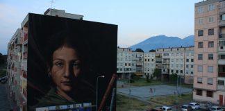 """In foto, l'opera """"Ael. Tutt'egual song' e criature"""" di Jorit Agoch al parco dei murales di Ponticelli\ilmondodisuk.com"""