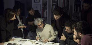 in foto, alcuni momenti del laboratorio nello studio del fotografo Antonio Biasiucci in via Tribunali, 186 Napoli \ilmondodisuk.com