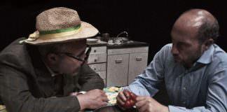 """Foto di scena, Spiro Scimone e Francesco Sframeli in """"Nunzio""""\ilmondodisuk.com"""