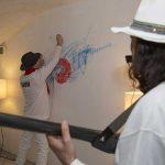 Salzano in azione pittorica