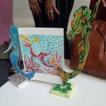 Particolare di una delle illustrazioni del libro e due lavori di Maria\ ilmondodisuk.com