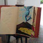 L'opera di Maria Siricio dedicata al salone del libro\ ilmondodisuk.com