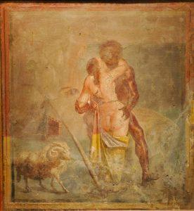 """Qui sopra, una delle """"visioni"""" di Pompei. In alto"""