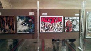Uno scatto al vernissage di Napoli Arte e Rivoluzione, Maschio Angioino