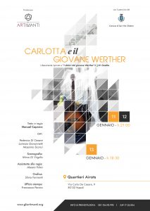 Locandina dello spettacolo Carlotta e il giovane Werther