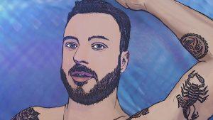 Il frontman in versione animata\ilmondodisuk.com