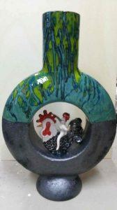 Uno dei vasi in mostra