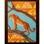 Botwana leopardo - acrilico su tela, Schili