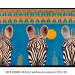 Botwana -zebra - dipinto di Schili