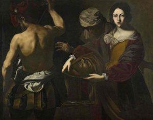 Qui sopra, Massimo-Salomè con la testa di Battista dipinta da Massimo Stanzione