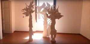 Un'altra opera nella sala espositiva del Palazzo di Capodrise