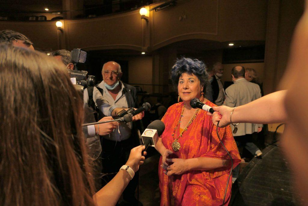 In foto Marisa Laurito, direttrice del Teatro Trianon Viviani