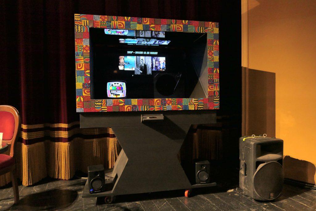 Nell'immagine il video-jukebox con i filmati delle Teche Rai