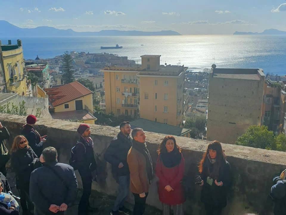 Uno scatto dal tour promosso dall'associazione Econote lungo la via Pedamentina. Febbraio 2020.